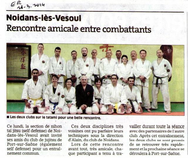 2014 ER entraînement  avec Port sur  Saône