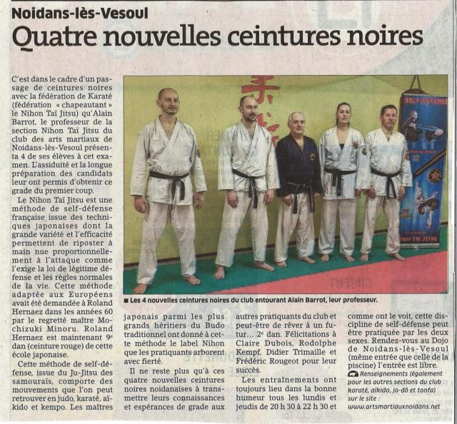 4 ceintures noires dans la section Nihon Tai Jitsu