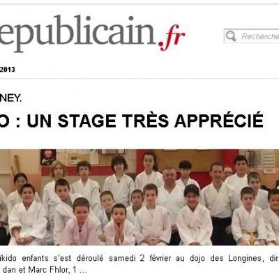 Stage Jeunes  FFAB à Valentigney - 02/2013