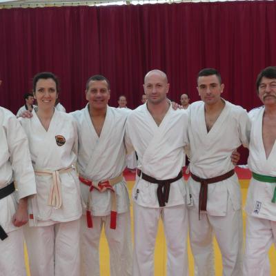les membres du karaté de Noidans avec Serge Serfati 2